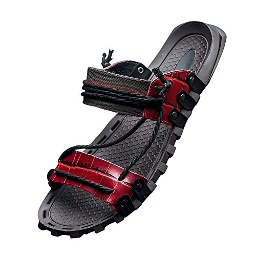 String Sandals Boho Mens Leather Red Slippers Tortor 1Bacha Open Toe Bohemian q4OyTwzx