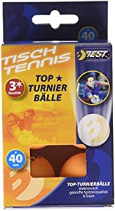 Best Sport 3 Star Tischtennis-Bälle-Orange-Turnier