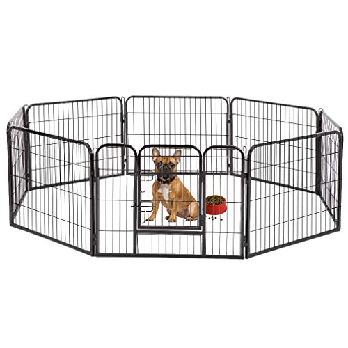 (BestPet Heavy Duty Pet Playpen Cat Fence S Dog Exercise Pen,)