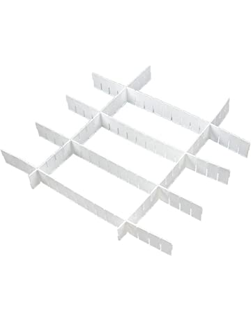 SODIAL(R) DIY Divisor Organizador para Cajon Almacenamiento Plastico Blanco
