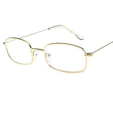 Sixcup Vintage Nerd Square Metal Glasses Clear Lens frames Women Man ...