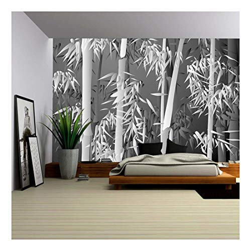 (wall26 - Bamboo Forest - Removable Wall Mural | Self-Adhesive Large Wallpaper - 100x144 inches)