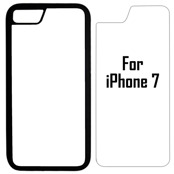 5X Innosub Sublimation Blank Cases Compatible with Apple iPhone  7-Rubber-Black-Blank Dye Cases and Inserts for Dye Sublimation/Phone  Cover/Blank