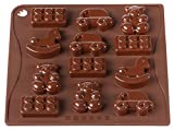 Pavoni CHOCO07 Platinum Silicone Toys Chocolate Mould, Brown