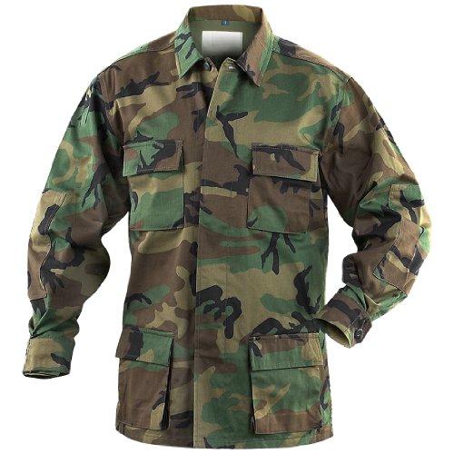 (Mil-Tec BDU Combat Shirt Woodland size 3XL )