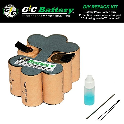 G/C Battery Co. Compatible 2.2Ah NiCd DIY REPACK KIT (contact not included) for Porter Cable 12V Battery 8623