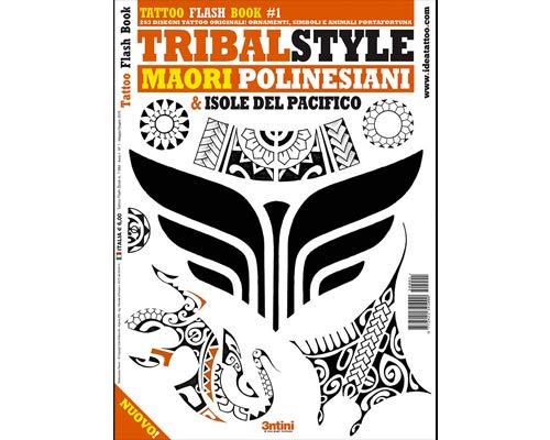 Tribal Style Maori Polynesian Pacific Island Tattoo Flash Design Book 64-Pages