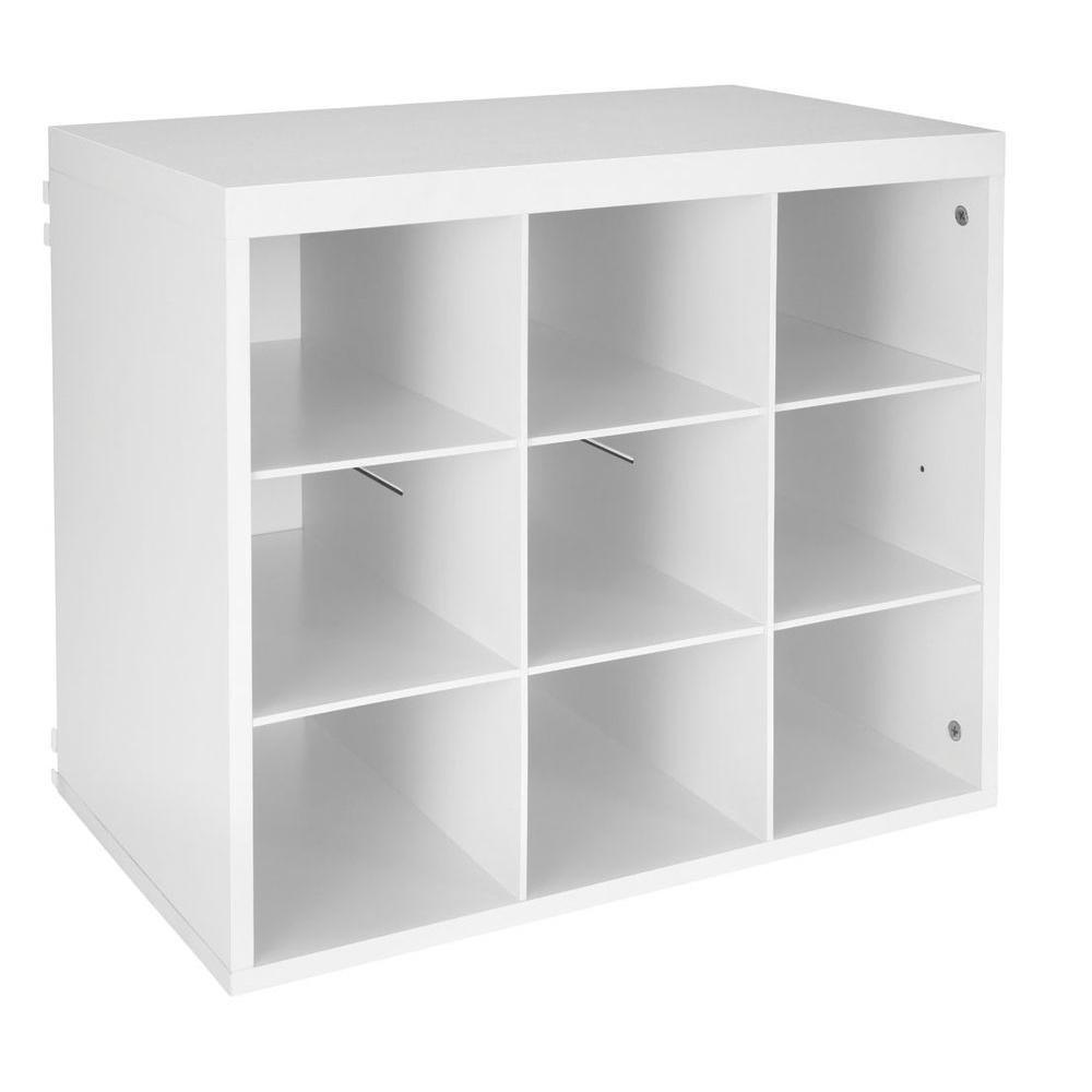 ClosetMaid 3277 Elite 19-3/4 in. White 9-Slot Organizer, White