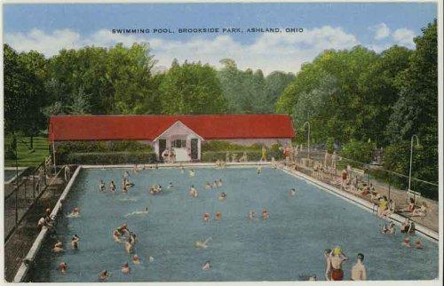 (Swimming Pool - Brookside Park (Ashland Ohio Vintage Postcard) (#32361N))