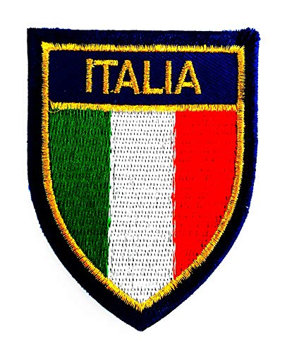 Italy Flag Italy has Official Name Republic Italy 2.5X3 in MEGADEE Patch Cartoon Kids Symbol DIY Iron on Patch Iron-On Designer Patch Used for Gifts Crafts Jeans Clothing Fabric (Italy Flag 004)