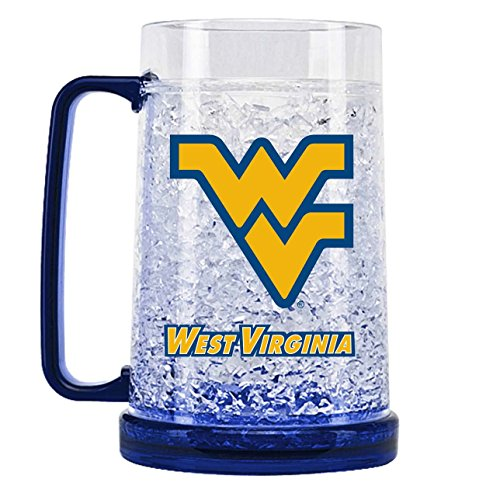 - NCAA West Virginia Mountaineers 16oz Crystal Freezer Mug