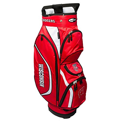 Team Golf NCAA Clubhouse Cart Bag, Wisconsin by Team Golf