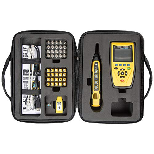 Klein Tools VDV501-829 VDV Commander with Test-n-Map Kit, Cable Installation Tone Generator and Probe Kit to Locate, Test and Measure Cables