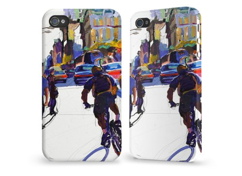 "Hülle / Case / Cover für iPhone 4 und 4s - ""Zigzagger"" by Tom Christopher"