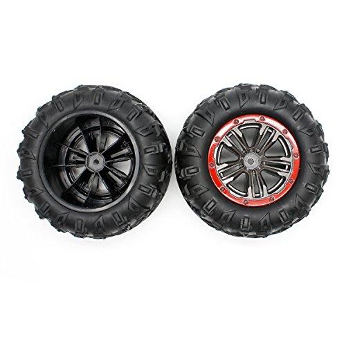 Hosim RC Car Tires Accessory Spare Parts Wheels 25-ZJ02 for 9125 RC Car (2 Pcs)