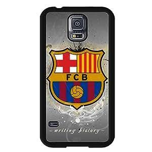 Samsung Galaxy S5 Case,FC Barcelona Logo Protective Phone Case Black Hard Plastic Case Cover For Samsung Galaxy S5