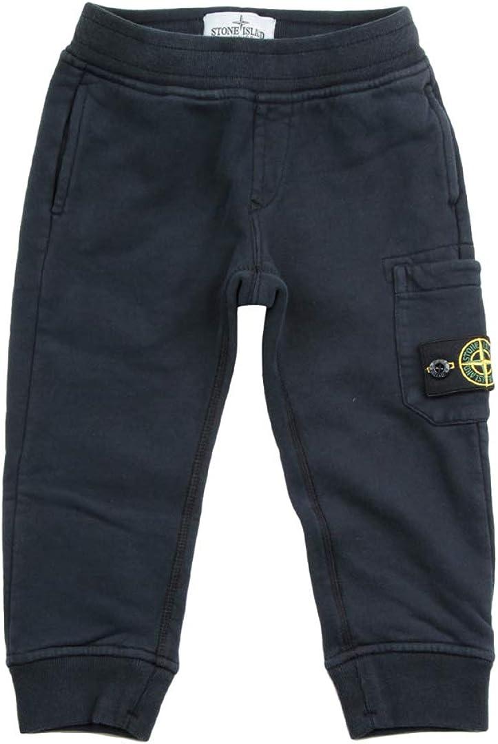 Stone Island Junior Pantaloni Tuta Felpati da Bambino 711660840.V0020 Blu