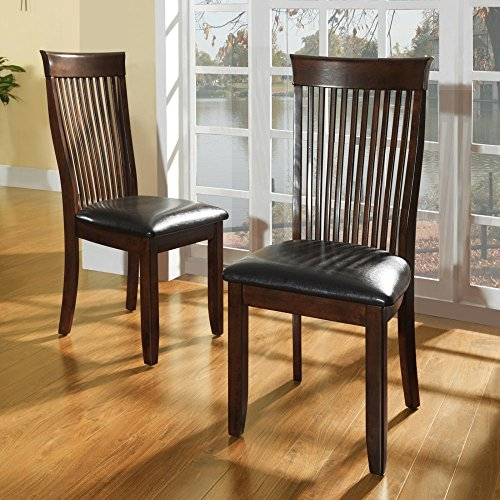 Tribecca Home Winsford Burnished Cherry High Back Transitional Dining Chair