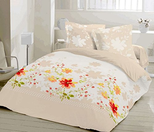 ThreeL Primavera 100% Cotton Duvet Cover Bedding Set Floral (King)