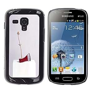 Be-Star Único Patrón Plástico Duro Fundas Cover Cubre Hard Case Cover Para Samsung Galaxy S Duos / S7562 ( Axe Ice Red Art Modern Abstract Random )