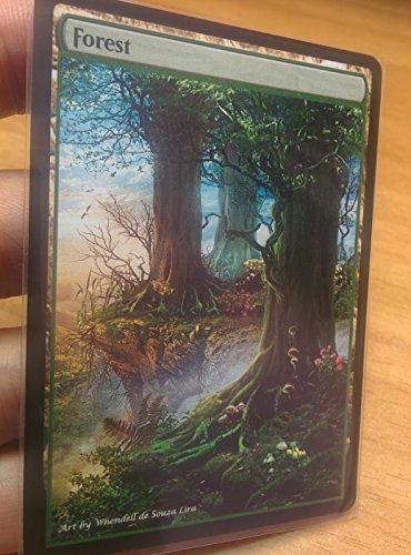 3x Forest #13 Extended Textless Full Art Custom Altered Basic Land MTG