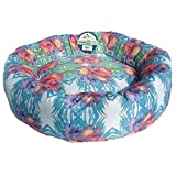 Iconic Pet Standard Donut Bed, Large, Blue Multi-Colored, Multi