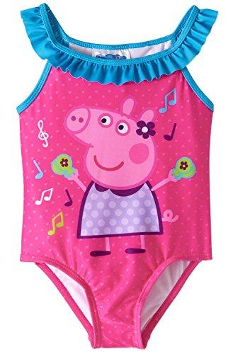 Peppa Pig Girls Swimwear Swimsuit (3T, Pink)