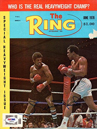 Leon Spinks Authentic Autographed Signed The Ring Magazine Cover S48441 PSA/DNA Certified Autographed Boxing Magazines
