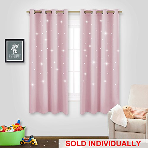 NICETOWN Cute Star Drape for Girl's Room Thermal Insulated S