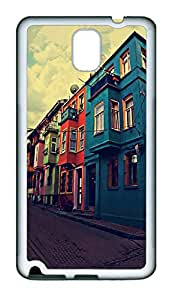 Samsung Note 3 Case Landscapes Houses TPU Custom Samsung Note 3 Case Cover White