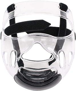 IrahdBowen Sport Masque de Protection Transparent Casque - Détachable Tête de Protection Masque, pour Hommes Femmes