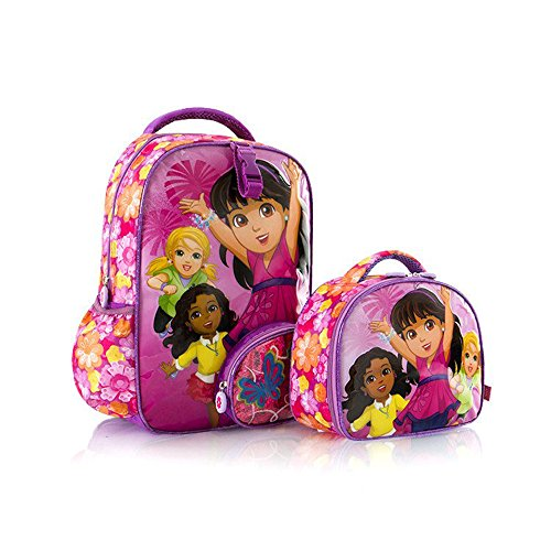Heys Nickelodeon Backpack/Lunch Bag - Dora Unique Character Kids Backpacks (Mlb Medium Gift Bag)