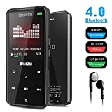 RUIZU D10 MP3 Player with Bluetooth 4.1, 8G Portable Lossless Sound MP4 Music Player with Touch Button 2.4'' Screen, FM Radio Voice Recorder, Video Playback, Build-in Speaker, Support Up to 128 GB