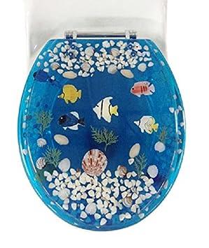 Favorit Daniel 's Bath & Beyond Polyresin rund Fisch WC-Sitz, blau, 43,2 PO87