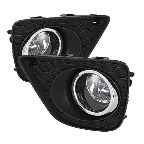 Jdragon 2013-2015 Honda Accord 2Dr Coupe Glass Fog Lights with Switch//Harness//Relay//Wiring