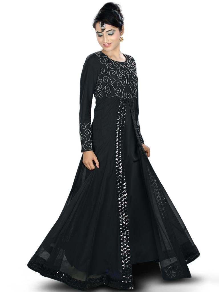 MyBatua Women's Amirah Georgeous Abaya Perfect Party Wear Dress S Black