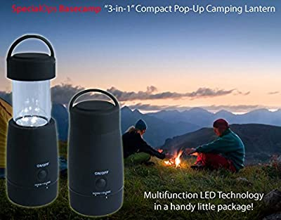 NEW MODEL- Special Ops Compact Multi-function LED Flashlight/Lantern + FREE Carry Bag! Lightweight Compact Pop-up Design. 3 Modes Ideal for Home Emergency, Power Outage, Children's Night Light. Handy Hiking, Camping Torch. Great Christmas GIFT!