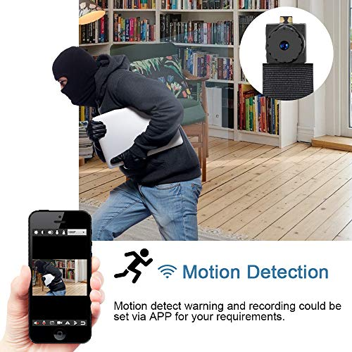 LXMIMI Super Mini Camera, 1080P HD Hidden Camera Spy, Mini Compact Size Spy Camera for Carrying with Motion Detection Mode