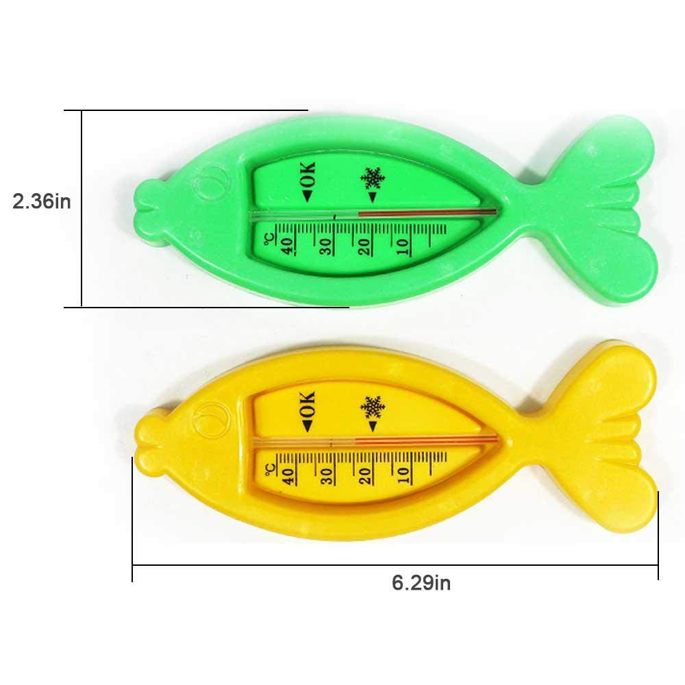 Color Random Delivery KOBWA Baby Safe Floating Bath Thermometers Fish