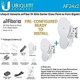 Ubiquiti airFiber PRE-CONFIGURED AF-24 (2-PACK) 24 GHz Reflector Antenna System