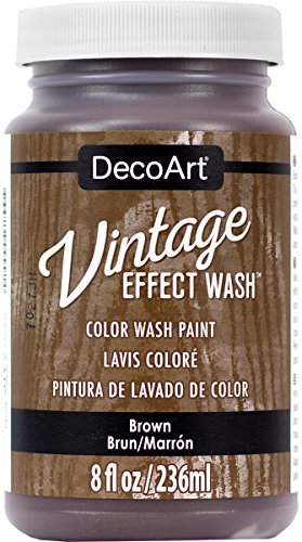 DecoArt Vintage Effect Wash 8oz, Brown