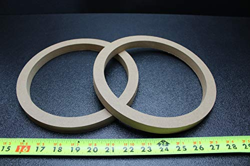 2 MDF Speaker Ring Spacer 8 INCH Wood 3/4 Thick Fiberglass Box ENCLOSE RING-8R (Fiberglass Speaker Box)