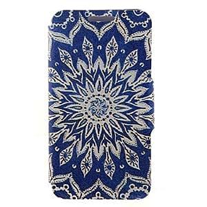 ZMY Kinston modelo de flores azul del sol de la PU cuero caso de cuerpo completo con soporte para el iPhone 5 / 5s