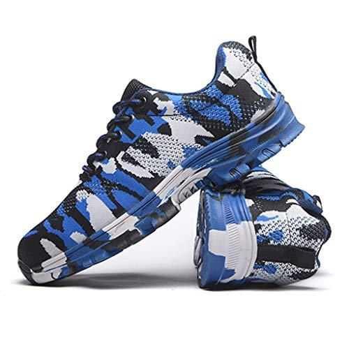 General Zapatos Hombres Unisex Protección Calzado Antideslizante Puntera De Libre Prevención Acero Aplastamiento Al Aire Para Uso Pinchazos Anti Blue Transpirable RIw6Ex6q
