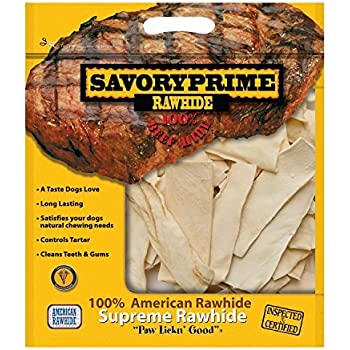 Amazon.com : Savory Prime 100% American Beef Rawhide Chips