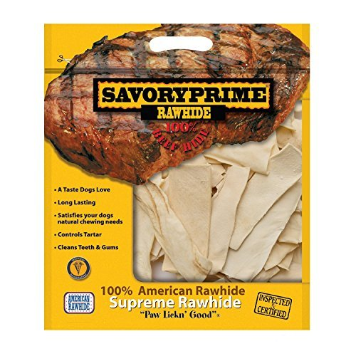 - Savory Prime 100% American Beef Rawhide Chips, All-Natural Treat W/ No Preservatives, Chemicals, Or Additives, Satisfy The Urge To Chew & Promote Dental Health, 2Lb Resealable Bag (Natural Flavor)