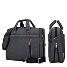 YiYiNoe Shoulder Bag for 17 inch Laptop Business Briefcase Waterproof Messenger Bags Black