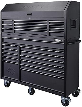 [해외]Husky 56 in. 23-Drawer Tool Chest and Rolling Cabinet Set 18 Ga. Steel 22 in. D Textured Black Matte / Husky 56 in. 23-Drawer Tool Chest and Rolling Cabinet Set 18 Ga. Steel 22 in. D, Textured Black Matte