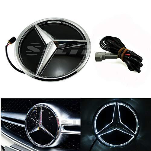Gooogo MB-LED-M03 Base Plate Front Grill Emblem Upgrade AMG Illuminated LED Light Front Grille Star Emblem Badge For Mercedes Benz W205 2013-2018 CL CLA E GLA CLS G ML SL (Twist)