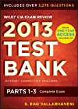 Wiley CIA Exam Review 2013 Online Test Bank1-Year Access: Complete  Set